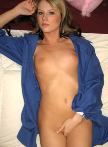 Cali Strips Out Of Her Daddys Shirt And Shows Off Her Perky Perfect Tits - Picture 5