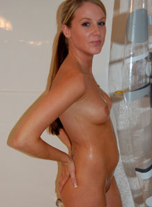 Watch As Cali Gets Wet In The Shower - Picture 4